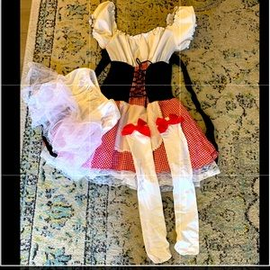 Little Red Riding Hood costume, petticoat, hosiery